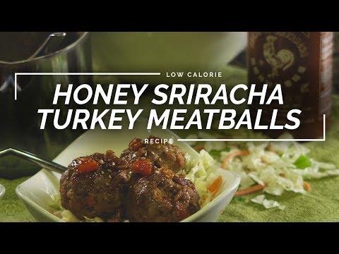 Honey Sriracha Turkey Meatballs | Sweet & Spicy Meatball Recipe
