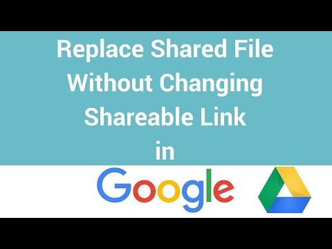 How To Replace A Shared File Without Changing Shareable Link in Google Drive