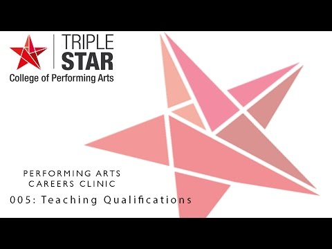 Performing Arts Careers Clinic - 005 Teaching Qualifications