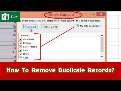 How To Find and Remove Duplicates Records | Microsoft Excel 2016 Tutorial