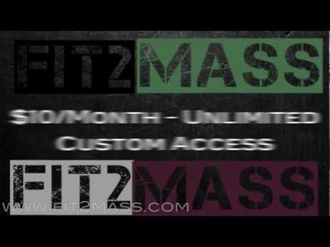 Fit2MASS Journey - Gain Lean Muscle Mass and Burn Fat for Men & Women!