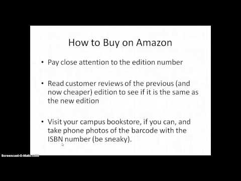 Buying College Textbooks 101