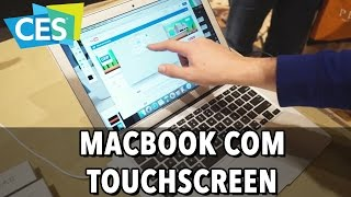 AIR BAR ADICIONA TOUCHSCREEN AO MACBOOK E NOTEBOOKS
