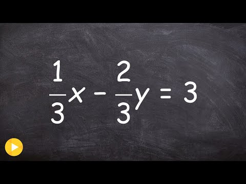 Learn how to graph an equation with fractions for the slope and y intercept