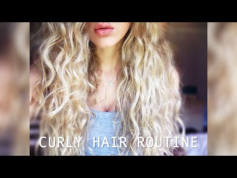 Curly/Wavy Hair Tutorial from Wet to Dry ☆