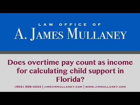 Does overtime pay count as income for calculating child support?