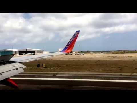 Southwest Airlines first inaugural international destination, Aruba!!!  Landing!!!