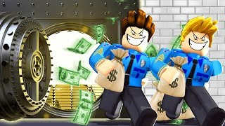 POLICE OFFICERS ROB A BANK IN JAILBREAK! (Roblox)