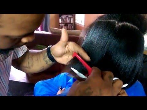 How to trim damage hair w Johnny Nixon the Hair Gawd