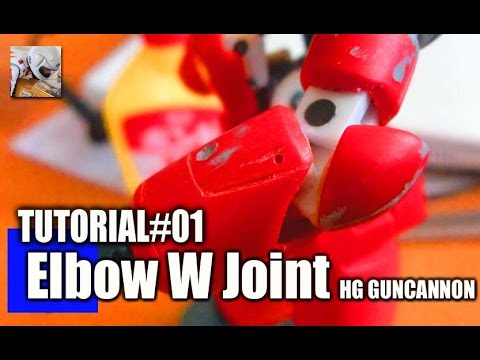 How to make double joint of Gunpla (1/144 HG Gancannon) Tutorial#01
