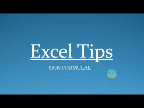 How To Use Sign Formulae In Excel