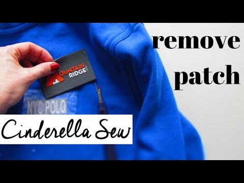 Remove patch from clothing with seam ripper - Easy way to take patches off clothes without holes