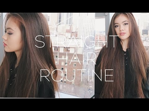 Straight Hair Routine + Volume Hair Tips | viviannnv