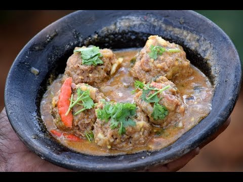 Village Style Mutton Kheema Curry | Meat Balls Curry| Mutton Kofta