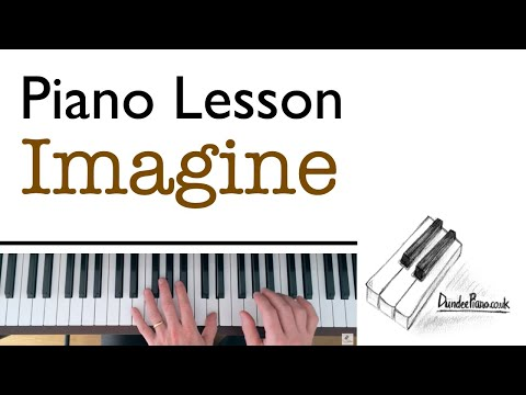 Imagine, John Lennon - Quick Piano Lesson - all chords, both hands