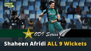 Pakistan vs New Zealand ODI series: Shaheen Afridi ALL 9 WICKETS