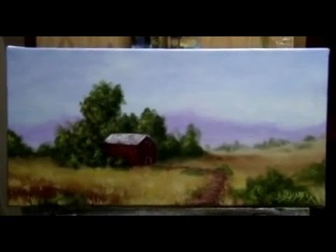 How To Paint A Country Side, Farm Land - Free Acrylic Painting Lessons