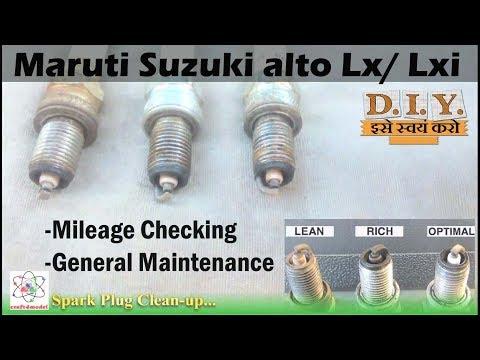 Maruti Suzuki alto Spark Pluge Clean up And Mileage Check