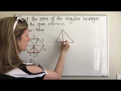 Finding the Area of a Regular Hexagon with Side Length 7
