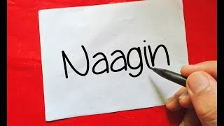 """Naagin Season 3 - How To Turn Words """" Naagin """" Into Cartoon - Wordtoon #44"""