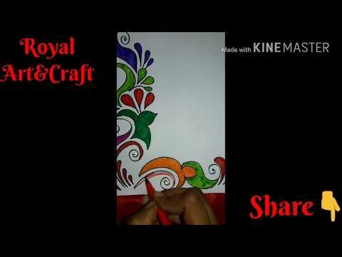 Easy To Make Corner Design    How To Make Greeting Cards Design    Easy Corner Shape Design    Gre#8