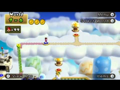 New Super Mario Bros. Wii - How to Get to World 7-6