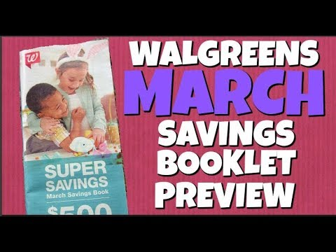 Walgreens MARCH Savings Booklet Preview 2018