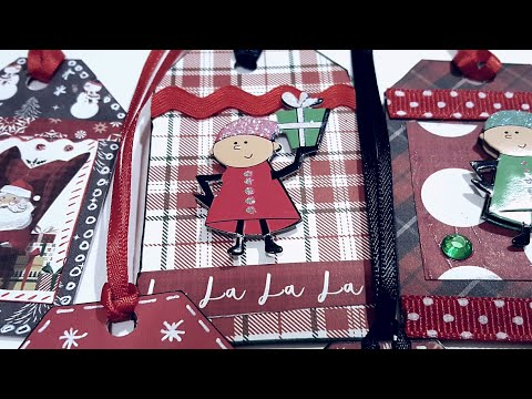 MINI CHRISTMAS GIFT TAGS | PAPER CRAFTING