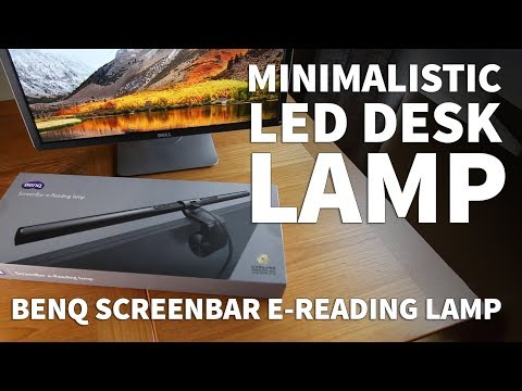USB Desk Lamp with Adjustable Brightness- BenQ ScreenBar LED Monitor Lights Minimalistic Desk Setup