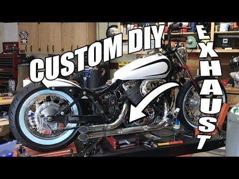 Custom DIY Exhaust on a Honda Shadow