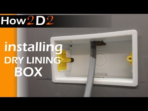 How to install dry lining electrical box Fitting electrical box in plasterboard