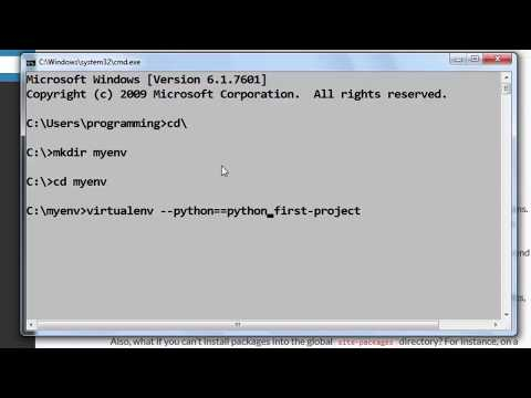 How to Create a Virtual Python Environment with virtualenv