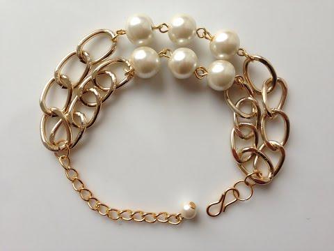 DIY pearl bracelet | How to make | bracelet making |  pearl jewelry | Beads art