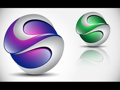 How to create 3D Logo Design in Adobe Illustrator CS5 | HD | S2