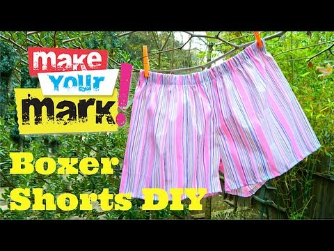 How to Make Boxer Shorts EASY DIY