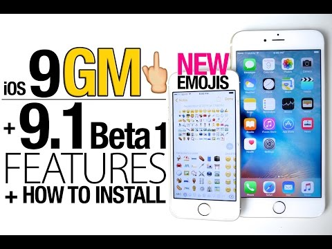 iOS 9 GM & iOS 9.1 Beta 1 Released! NEW Features Review + How To Install