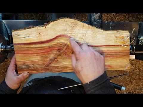 Woodturning Flame box elder pepper mill