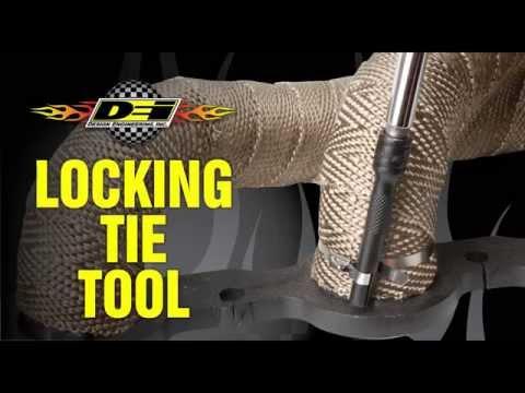 DEI Exhaust Wrap Tie Clamp Locking Tie Tool 010220 Instructions Tutorial How-To
