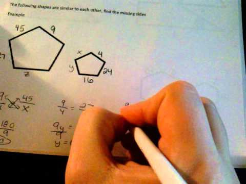 Finding missing sides of similar polygons