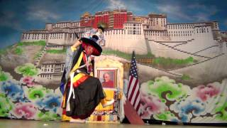 TIBETAN BLACK HAT DANCE performed by Tsering Dorje Bawa at Tibet Day 2012