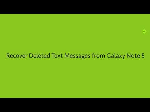 Recover Deleted Text Messages from Samsung Galaxy Note 5