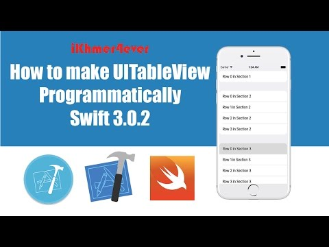 Learn ios online: Make tableview programmatically swift3 | Free iOS Tutorials | app development