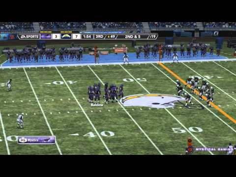 Madden NFL 12 - Franchise Mode - Mystics vs Chargers - Gameplay HD