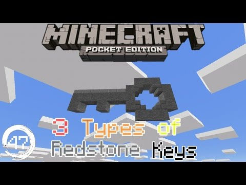 Mcpe 15.0+ Redstone Tutorial: How to build a 3 Types of Redstone key