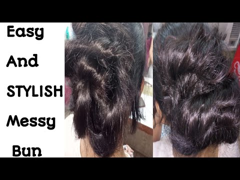Messy Bun/Party Hair Style/ Very easy Hair Style for Girls/Seema jaitly