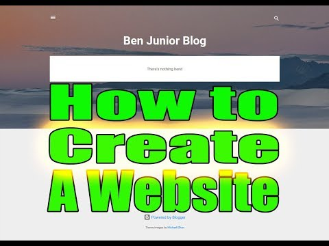How to create a website for free (Blogger Blog)