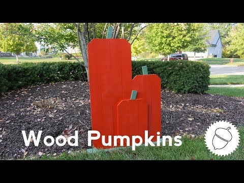 How to Build Slatted Pumpkins | Great Outdoor Fall Decoration!