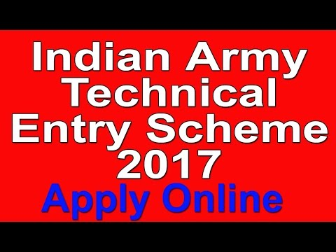 Indian Army Technical Entry Scheme Officer post 2017 | Apply online