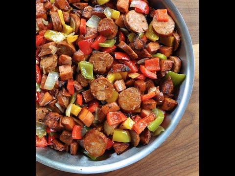 Fast Paleo Skillet Dinner - Sausage and Veggie Recipe!