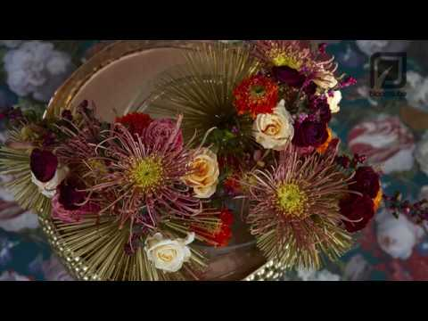 Flower Christmas Arrangement How to make
